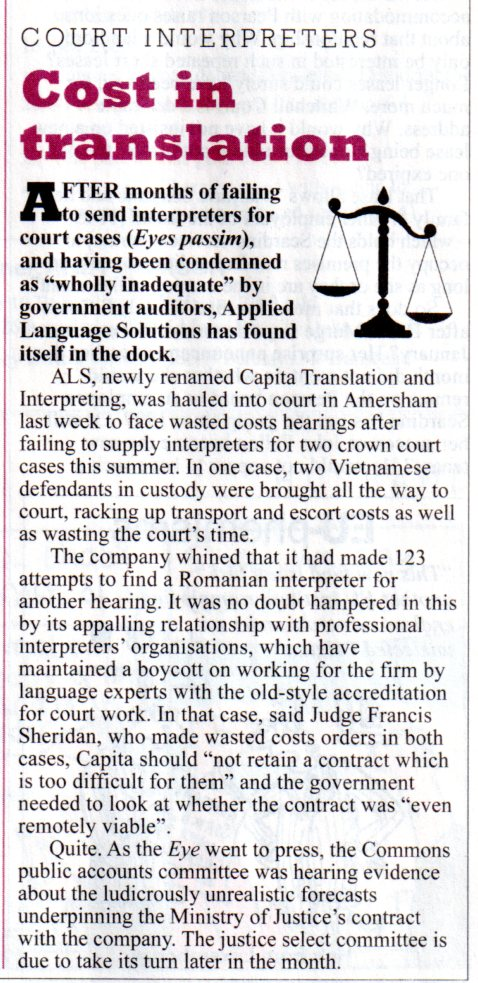 Cost in Translation Private Eye
