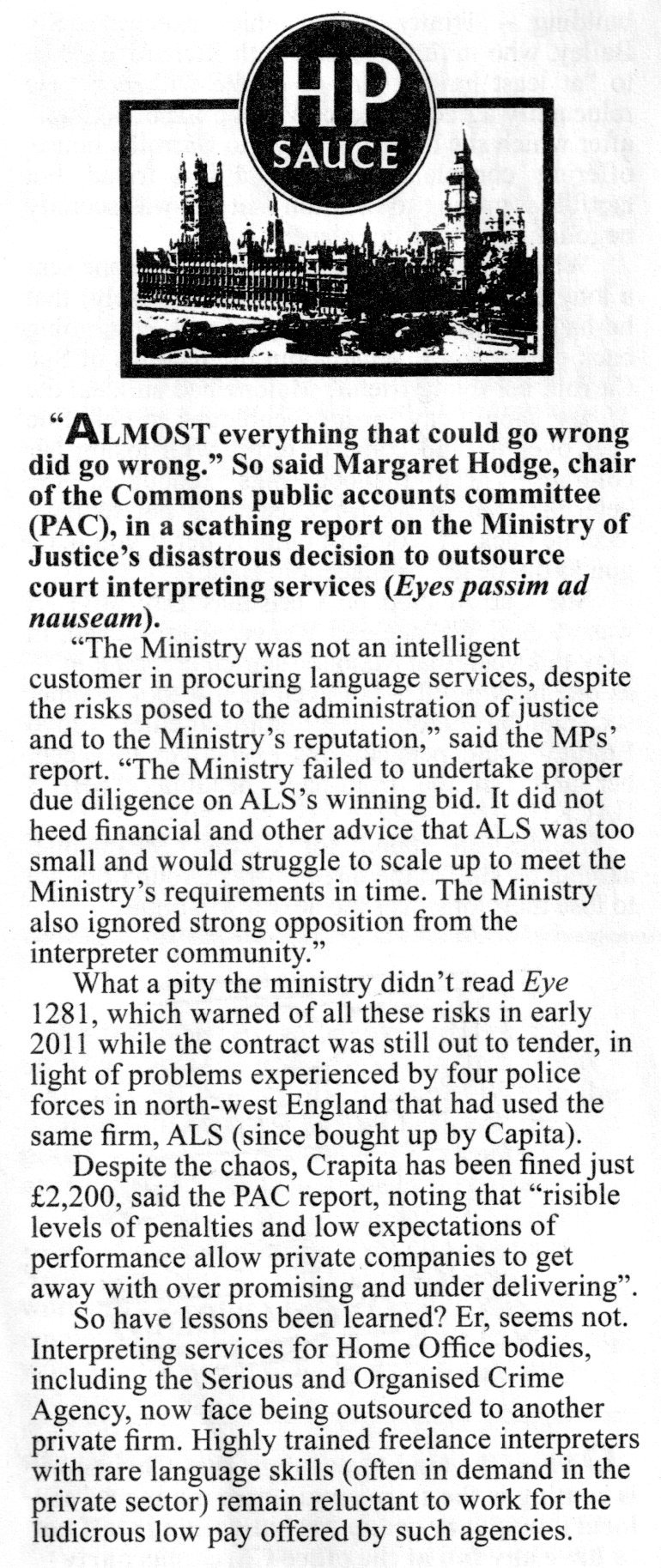 Private Eye 22nd December 2012